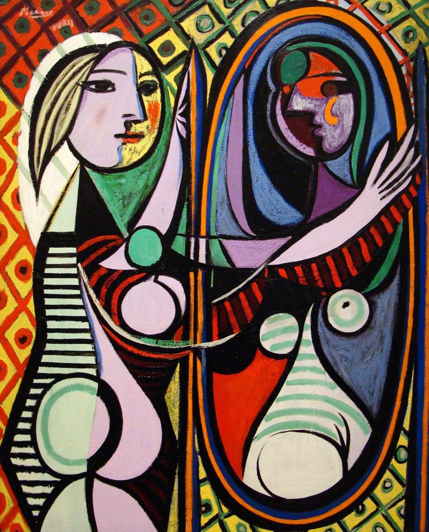 Fille devant un miroir de Pablo Picasso