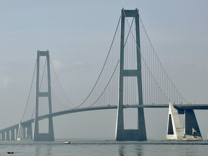 Les ponts les plus célèbres du monde: Great Belt Bridge, Danemark