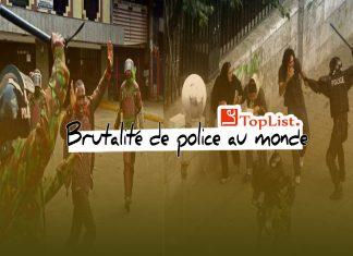 pays avec la pire brutalité de la police