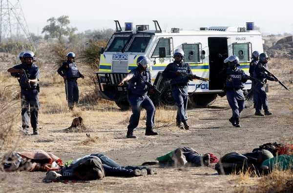 La brutalité policière en afrique du sud