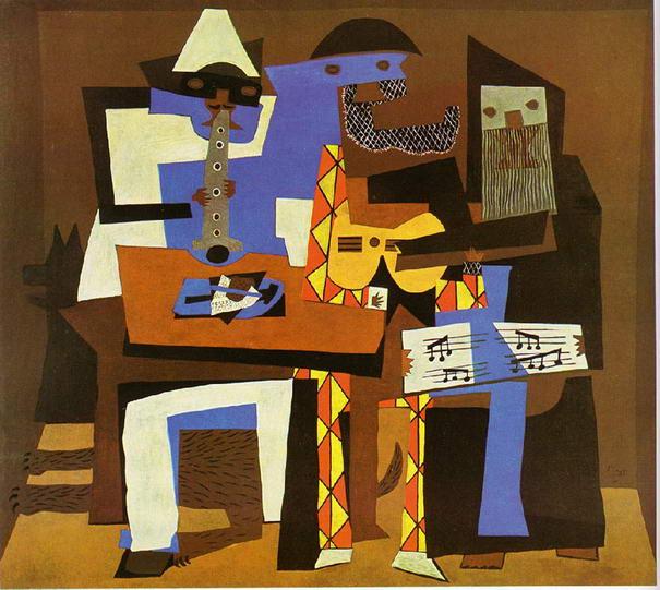 Trois-musiciens-par-Pablo-Picasso