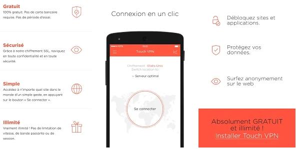 Touch VPN, Meilleurs VPN pour ANDROID