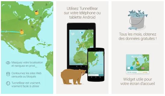 TunnelBear VPN, Meilleurs VPN pour ANDROID