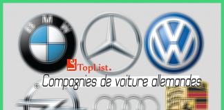 10 compagnies de voiture allemandes populaires