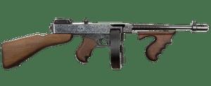 2e arme la plus dangereuse au monde: mitraillette Thompson M1921