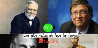 Top 10 des personnes les plus riches de tous les temps
