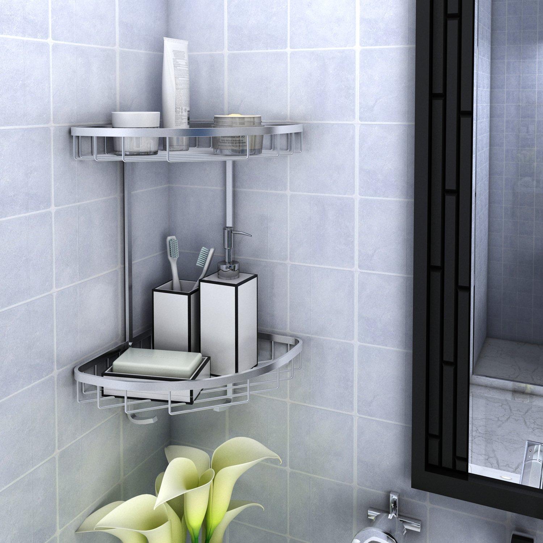 Lifewit Etagère d'angle de douche Etagère murale en Aluminium rangement de salle de bain