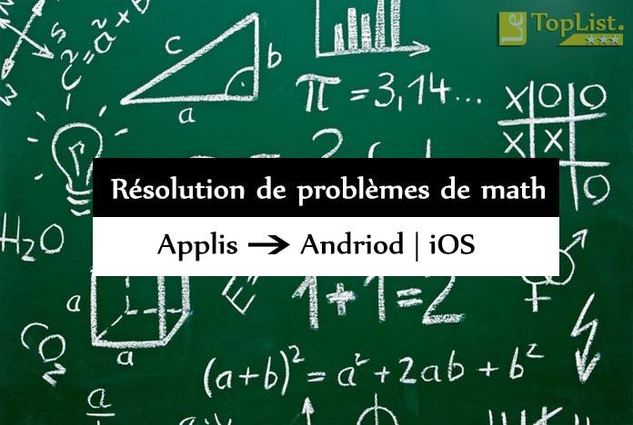 applications de résolution de problèmes de math