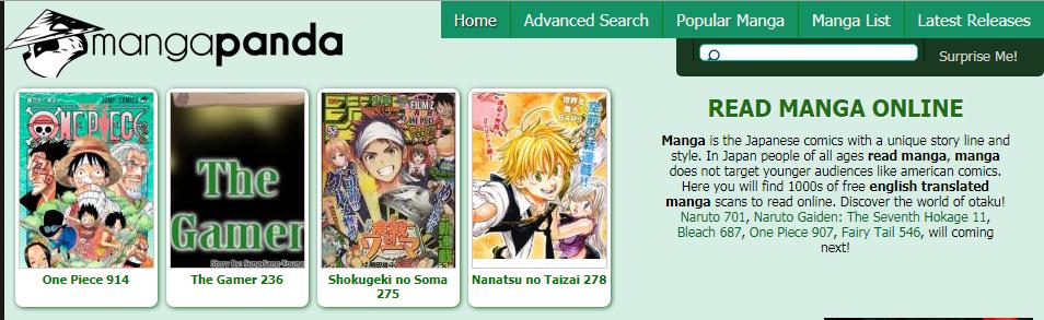 Meilleurs sites manga | Manga panda