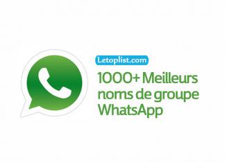 Meilleure liste de noms de groupe WhatsApp